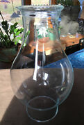 Vintage Crystal Clear Glass Hurricane Lamp Replacement Shade 9tall Hobnail Edge