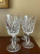 4 Waterford Kinsale Water Wine Goblets Crystal Glass Signed 6 3/4 Make Offer