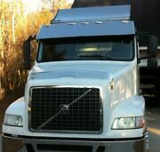 Outlaw Customs 98-20 Volvo Vnm Vhd Stainless Drop Visor Flat Top Daycabs V-8036