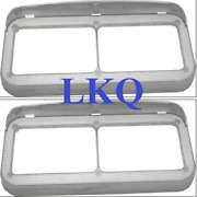 Outlaw Customs Dual Small Headlight Led Halo Bezels W/ Visor Cabover 40490/491