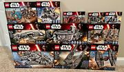 Lego Star Wars Huge Lot Of 11 Force Awakens Sets 75105 75104 And More Retired
