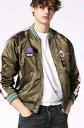 Nwt Diesel Menand039s J-fire Reversible Jacket In Army Green Size Xxl 348