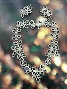 Gorgeous Kenneth Jay Lane Floral Rhinestone Necklace And Clip-on Earrings