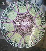 48 Marble Outdoor Table Collectible Small Piece Malachite Inlay Home Decor Gift