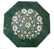 15x15 Marble Side Table Top Mother Of Pearl Mosaic Floral Inlay Home Decor