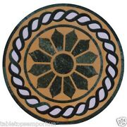 2and039x2and039 Black Marble Fine Art Coffee Table Top Inlay Mosaic Pietra Dura Home Decor