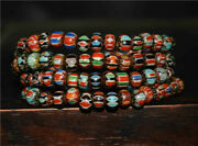 Old Antique Venetian Trade Glass Beads Real African Bracelet Chevron Necklace