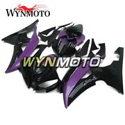 Purple Black Flame Abs Injection Plastic Fairing Kit For Yzf R6 2008-2016 Shell