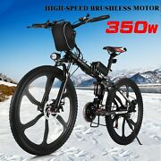 Hot Best 26and039and039 Folding Electric Bike Mountain Bicyclecity Ebike Shimano 21speed
