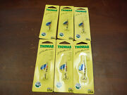 6 Count Thomas Special Spinner 1/6 Oz Trout Fishing Spoon Lure S502sb