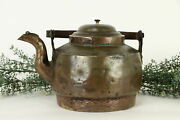 Hand Hammered Copper Antique Dovetailed Farmhouse Tea Kettle 37184