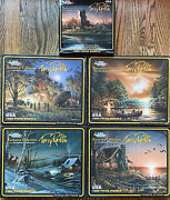 Terry Redlin Exclusive Collection White Mountain Puzzles Lot Of 5 Brand New