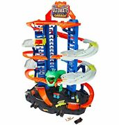 Hot Wheels City Ultimate Garage Track Set With 2 Toy Cars Multi