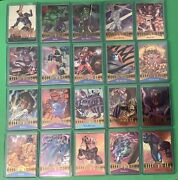 1995 Marvel Metal 20 Card Lot Andbull Hulk Silver Surfer Magneto Cyclops Gold Blaster