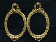 A Pair Of Oval Richly Decorated French Louis Xvi Style Mirror - Made To Order