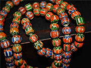 Old Antique Venetian Trade Glass Beads Real African Bracelet Chevron Necklace 3