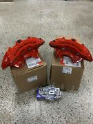New Gm 2015-19 Chevy Corvette Z06 Front + Rear Red Brembo 6 Piston Calipers