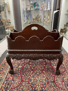 Baker Furniture Chippendale Canterbury Mahogany 2 Piece Magazine Book Stand