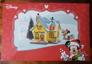 Department 56 Disney Mickeyand039s Merry Christmas Village 4-piece Holiday Gift Set