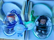 Paradise Galleries Little Gems Emerald And Sapphire In Paper Mache Eggs Very Rare