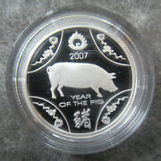 Australia 2007 Year Of The Pig Lunar One Dollar Silver Proof Coin