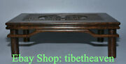 15.2 Old China Huanghuali Wood Carving Dynasty Feng Shui Foo Dog Lion Table