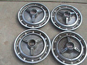 Chevy Ss Hubcaps 14 1960,s Vintage Set Of 4