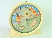 Vintage Smiths Alarm Clock Animated Dog As Is For Parts Or Repair