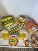 Barbie Puff N Play Zeetoys Blow Up Furniture 1970's Couch Kitchen 11 Pieces
