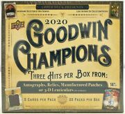 2020 Upper Deck Goodwin Champions Factory Sealed Hobby 8 Box Half Case Lebron