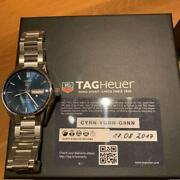 Auth Tag Heuer Watch Carrera Calibre 5 Day Date War201e.ba0723 Blue 41mm At F/s