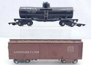 2 American Flyer Trains 625 Shell Tank Car And 642 Box Car S Scale