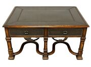 Theodore Alexander Armoury Collection Brass Plated Rectangular Coffee Table