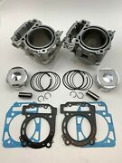 2 Cylinders Pistons Gasket Kits Can-am Brp Outlander 1000 Max Xmr Cylinders