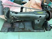 Singer Industrial Twin Needles Antique Sewing Machine