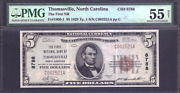 Fr1800-1 5 1929 Ty. 1 S/n C002521 Ppc The First National Bank Of Thomasville N
