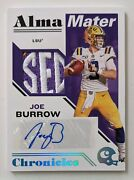 2020 Panini Chronicles Joe Burrow Auto And Sec Patch One-of-one 1/1 Rc Rookie Card