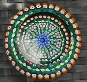 Perthshire Paperweights Millefiori Cartwheel Faceted Large Paperweight