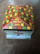 Authentic Antique 1935 Marx Honey Moon Garage Tin Pressed Steel Lithograph