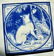 Antique 6 X 6 Tile Aesop Fable Mintons China Works Thomas Allen Fox And The Crow