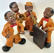 1940s African American Jazz Quartet Figurines Old Blues Dixie Band Collectible