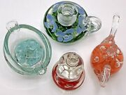 Joe Bob And Maude St. Clair 1980s Paperweights Collection Set Of Four