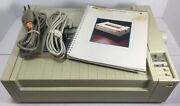 Apple Imagewriter A9m0303 Dot Matrix Printer With Cords And Manual Free Shipping