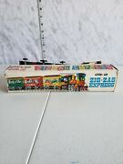 Vintage Wind Up Comic Zig Zag Express Tin Train With Original Packaging