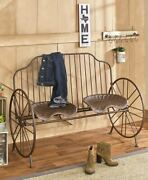 Rustic Metal Farmhouse Porch Tractor Seat Bench Or Chair Yard Patio