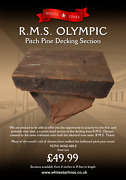 Genuine Original 1911 Rms Olympic / Titanic Pitch Pine Decking 24 Section