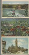 Vintage Scenic Circa 1800and039s-1900and039s Lot Of 5 Fish Sunsets