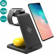 Wireless Charger Dock Led Light Indicator Phone Watch Power Device For Iphone