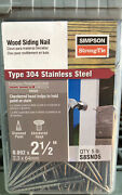 Simpson Strong-tie 5 Stainless Steel 8d X 2-1/2 Siding Nail S8snd5