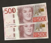 2015 Sweden 500 Kronor New Series Uncirculated